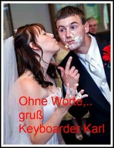 Braut und Bräutigam essen Kuchen Alleinunterhalter Heinsberg Dj Heinsberg