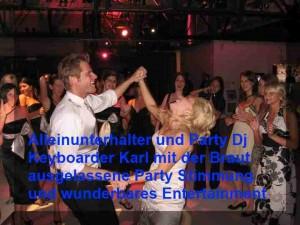 Alleinunterhalter Heinsberg tanzt der Braut bei einer Hochzeit