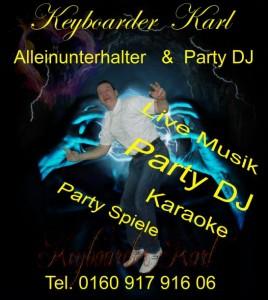 Alleinunterhalter und Entertainer Heinsberg mit Party DJ Heinsberg und Live Musik in Heinsberg - Keyboarder Karl