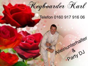 Alleinunterhalter Übach Palenberg - Keyboarder Karl als Live Musiker oder Hochzeits DJ und Geburtstag Party Dj in Übach Palenberg buchen