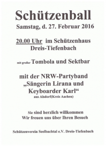 SCHÜTZENBALL SIEGEN Winterball Siegen mit Keyboarder Karl und Sängerin Lirana