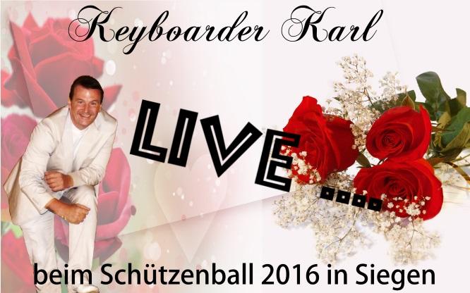 Winterball Siegen Schützenball Siegen mit Alleinunterhalter Keyboarder Karl
