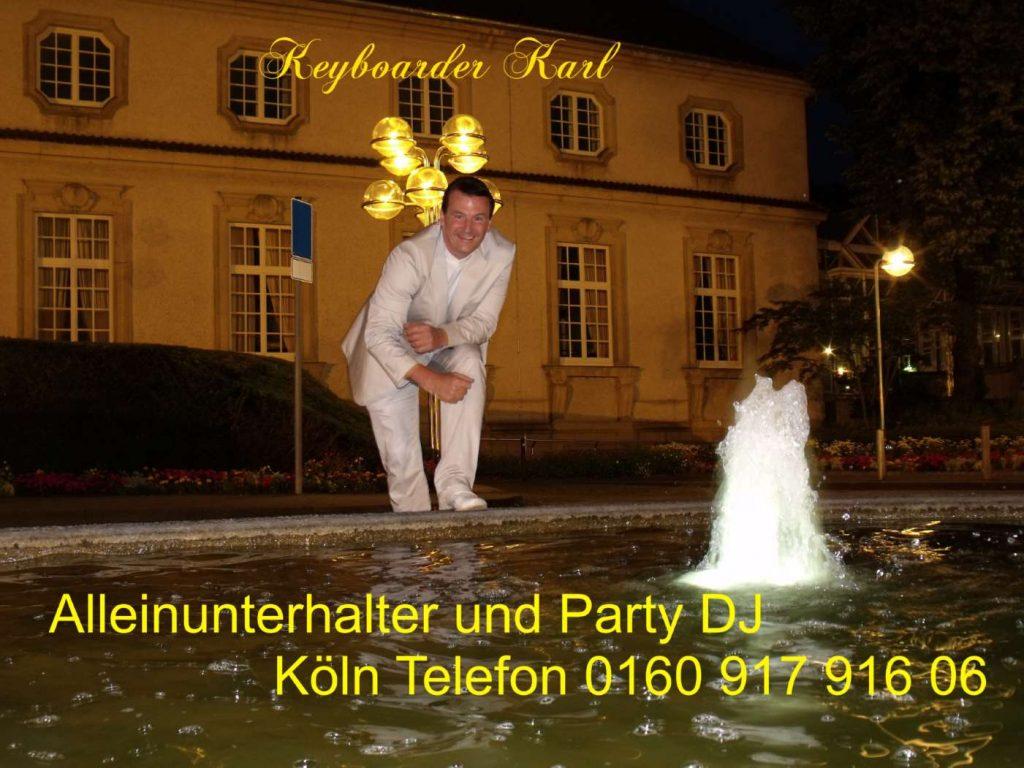 ERÖFFNUNGSTANZ Live mit Keyboarder Karl - Ihrem Alleinunterhalter Aachen und Party Dj in ganz Nordrheinwestfalen