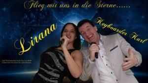 Keyboarder Karl uns Sängerin Lirana - ein Phantastisches Musik Duo aus NRW