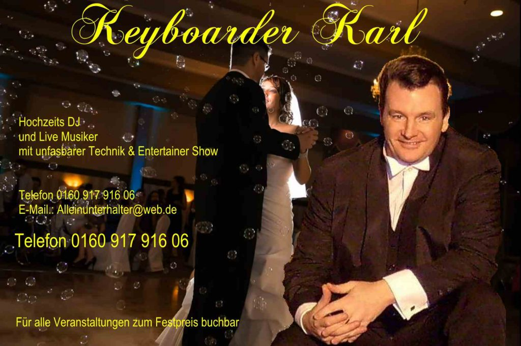 Alleinunterhalter Heinsberg und Party DJ Heinsberg hier zum Festpreis für Hochzeit, Geburtstag Schützenfest etc. buchen