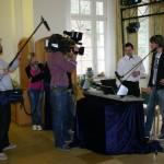 Alleinunterhalter Keyboarder Karl und Micki Krause sowie Fernseh Team