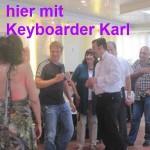 Alleinunterhalter und DJ Keyboarder Karl mit Oliver Pocher